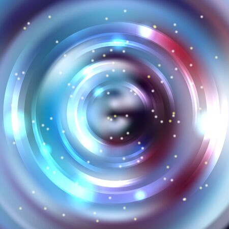 energy flow: Abstract circle background, Vector design. Glowing spiral. The energy flow tunnel. Blue, purple colors. Illustration