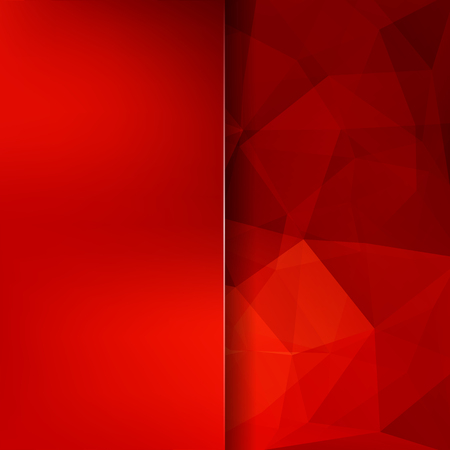 Abstract background consisting of triangles. Geometric design for business presentations or web template banner flyer. Vector illustration. Red color.