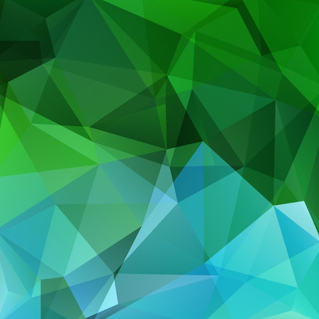 double page: Polygonal vector background. Can be used in cover design, book design, website background. Vector illustration. Green, blue colors.