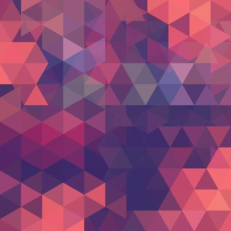 deep pink: Abstract mosaic background. Triangle geometric background. Design elements. Vector illustration. Pink, purple colors. Illustration