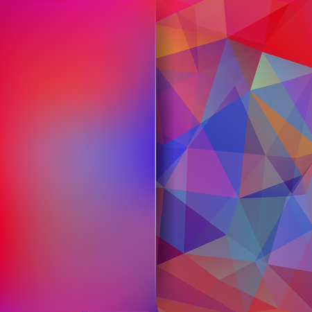 Abstract background consisting of triangles. Geometric design for business presentations or web template banner flyer. Vector illustration. Colorful background. Pink, red, blue colors.
