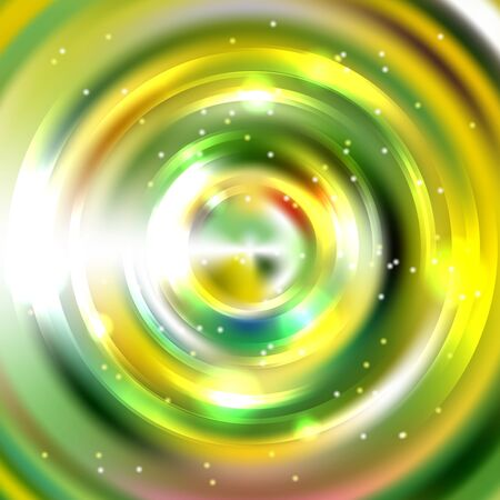 Abstract circle background, Vector design. Glowing spiral. The energy flow tunnel. Yellow, green, white colors.