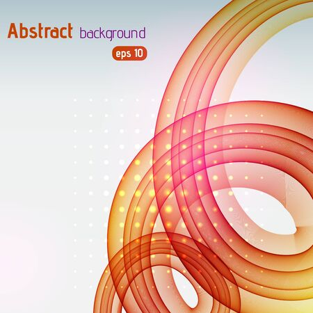 Abstract background with swirl waves. Eps 10 vector illustration. Yellow, orange, pink colors.