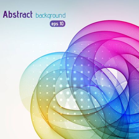 abstract waves background: Abstract background with colorful swirl waves.
