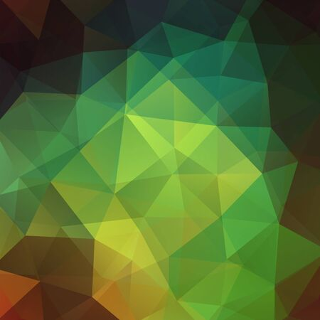 green brown: abstract background consisting of green triangles, vector illustration