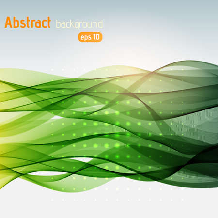 green swirl: Abstract background with green swirl waves. Abstract background design.