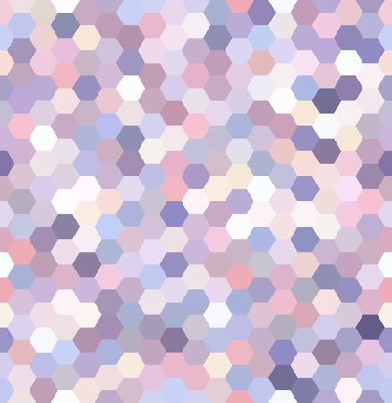 mosaic background: seamless abstract mosaic background. Hexagons geometric background. Design elements. Vector illustration. White, pink, purple colors