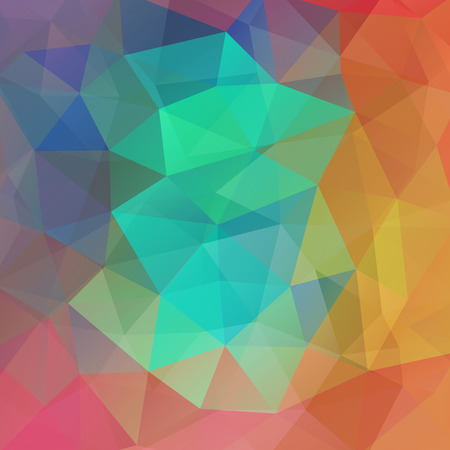 green yellow: abstract background consisting of green, yellow, orange triangles, vector illustration