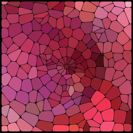 cobble: Abstract background consisting of black lines with rounded edges of different sizes and brown geometrical shapes. Vector illustration. Pink, purple, red colors