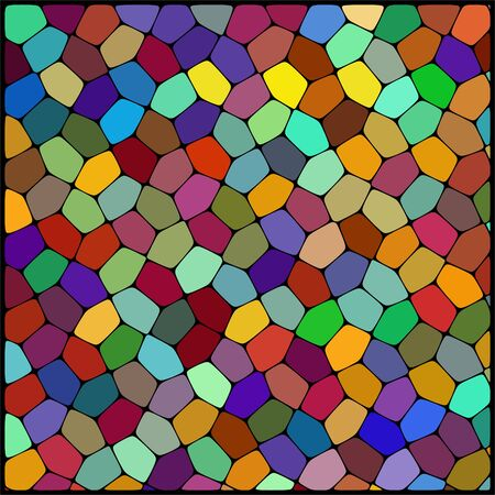 cobble: abstract background consisting of geometrical shapes. Brown, red, yellow, green colors Illustration