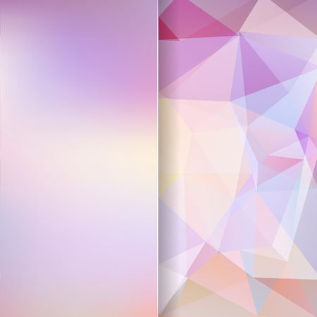 matt: abstract background consisting of pink, white triangles and matt glass