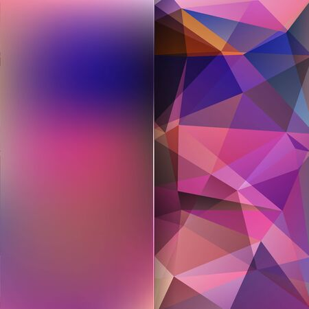 abstract background consisting of purple triangles and matt glass Illustration