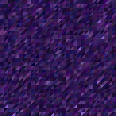 dark purple: Abstract seamless mosaic background. Triangle geometric background. Vector illustration. Dark purple, violet colors