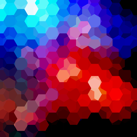 square composition: Background made of hexagons. Square composition with geometric shapes. Illustration