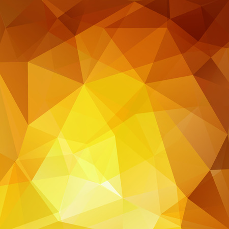 Polygonal vector background. Can be used in cover design, book design, website background. Vector illustration. Yellow, orange colors
