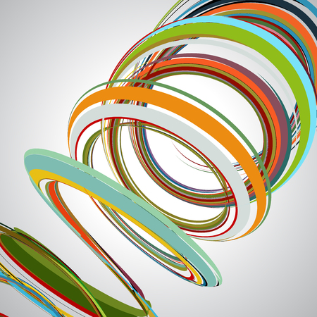 abstract background, swirling lines, colorful vector illustration. Green, brown, yellow, red, beige colors. Illustration