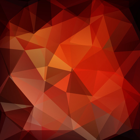square composition: Background made of brown triangles. Square composition with geometric shapes.