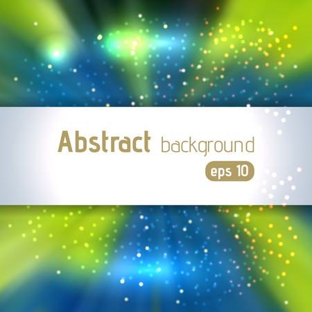 blinding: Background with light rays. Abstract background. Vector illustration. Green, blue colors Illustration