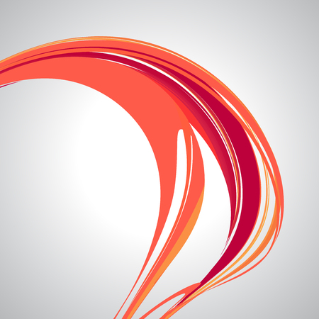 Líneas abstractas sobre fondo blanco. Elemento de diseño para diseño gráfico, presentación de negocios, carteles. Ilustración vectorial Colores rojo, rosa, naranja