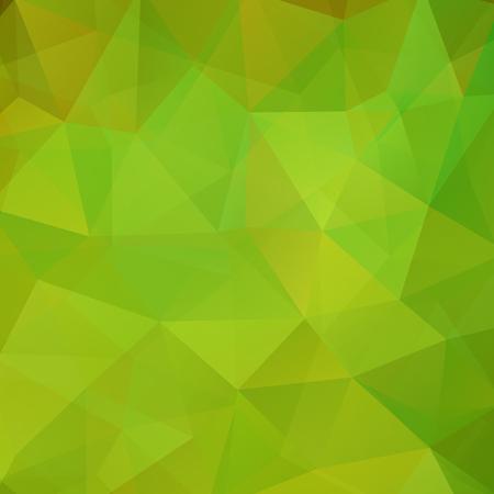 Geometrische patroon, veelhoek driehoeken vector achtergrond in groene tinten. Illustratie patroon