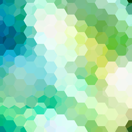 double page: Abstract hexagons vector background. Green geometric vector illustration. Creative design template Illustration
