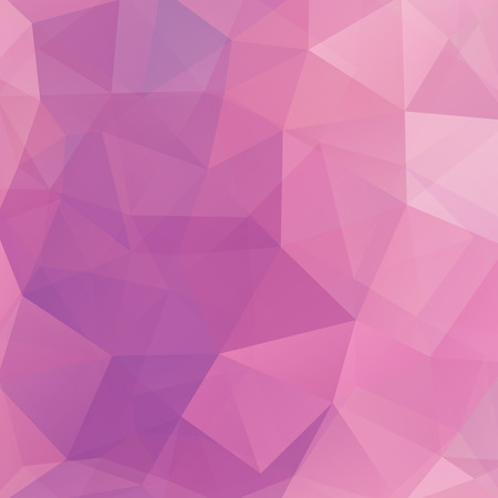 square composition: Background made of pink triangles. Square composition with geometric shapes.