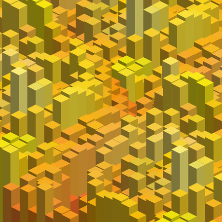 cubicle: Abstract background with 3d cubes. Vector cube box for business concepts. Yellow, orange colors.