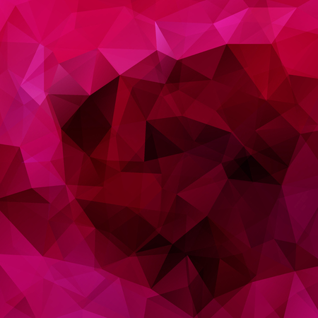 double page: Polygonal vector background. Can be used in cover design, book design, website background. Vector illustration. Dark pink, purple colors
