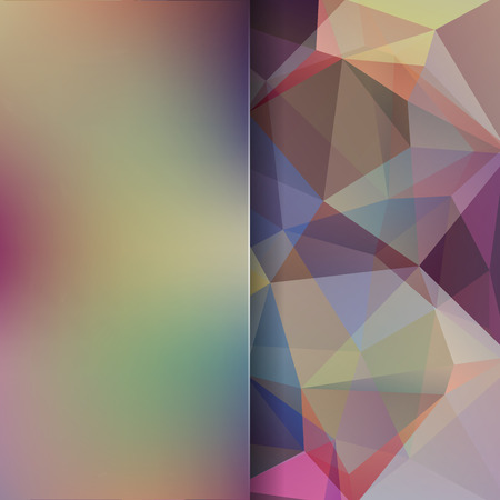 double page: Abstract background consisting of triangles. Geometric design for business presentations or web template banner flyer. Vector illustration. Brown color Illustration