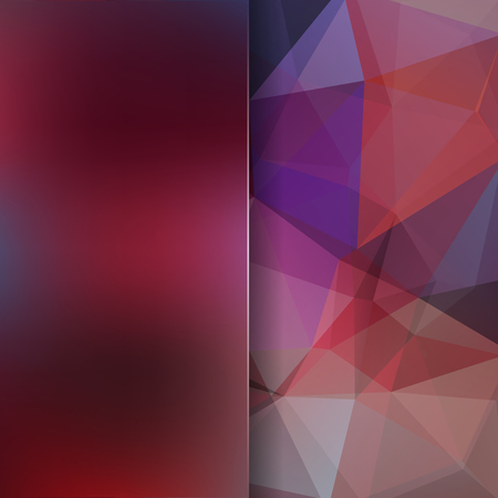 Abstract geometric style purple background. Blur background with glass. Vector illustration
