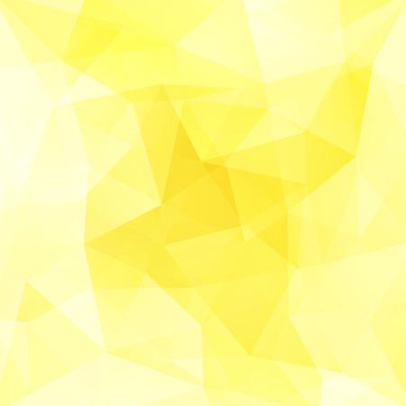 Geometric pattern, polygon triangles vector background in yellow, white tones. Illustration pattern 免版税图像