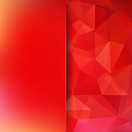 Geometric pattern, polygon triangles vector background in red tones. Blur background with glass. Illustration pattern Illustration
