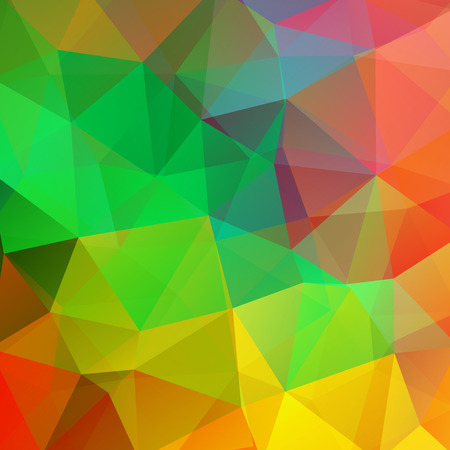 double page: Polygonal vector background. Can be used in cover design, book design, website background. Vector illustration. Yellow, green, orange colors