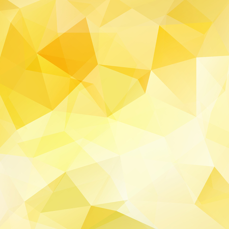 square composition: Background made of yellow triangles. Square composition with geometric shapes. Illustration
