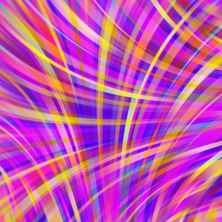 Colorful smooth light lines background. Pink, blue, yellow colors. Vector illustration. Illustration