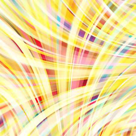 Colorful smooth light lines background. Yellow colors. Vector illustration.