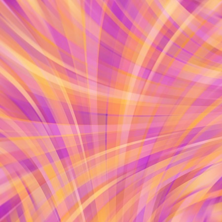 Vector illustration of orange abstract background with blurred light curved lines. Vector geometric illustration. Illustration