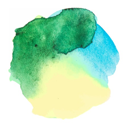 aquarell: Colorful watercolor stain with watercolour paint stroke