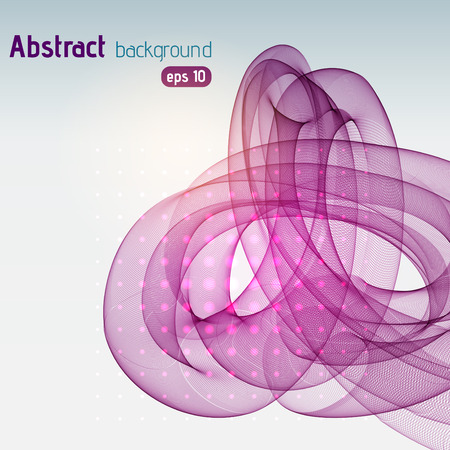 Vector graphic waves on a white background, vector illustration. Pink, purple colors