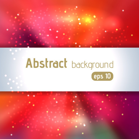 festive background: Background with colorful light rays. Abstract background. Vector illustration. Red, pink, orange colors. Illustration