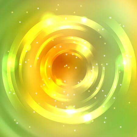 green swirl: Abstract background with luminous swirling backdrop. Shiny swirl background. Intersection curves. Yellow, green colors