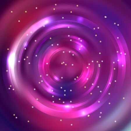 abstract: Abstract circle background, Vector design. Glowing spiral. The energy flow tunnel. pink, purple colors Illustration