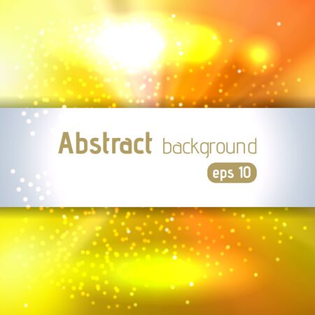 Background with colorful light rays. Abstract background. Vector illustration. Yellow, orange colors. Illustration