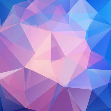 Abstract background consisting of triangles. Geometric design for business presentations or web template banner flyer. Vector illustration. Pink, blue colors Illustration