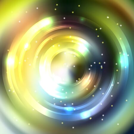 energy flow: Abstract circle background, Vector design. Glowing spiral. The energy flow tunnel. Yellow, gray colors. Illustration