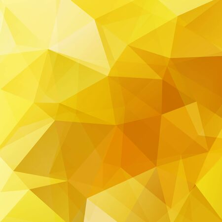 square composition: Background made of yellow triangles. Square composition with geometric shapes Illustration