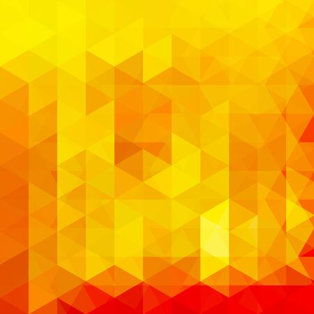 Abstract mosaic background. Triangle geometric background. Design elements. Vector illustration. Yellow, orange colors. Illustration