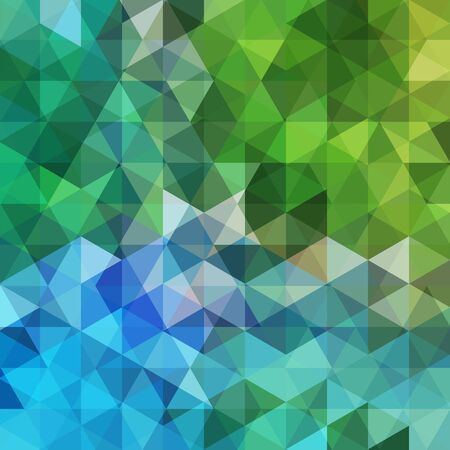 Triangle vector background. Can be used in cover design, book design, website background. Vector illustration. Green, blue colors