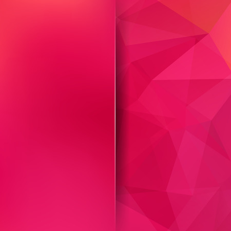 double page: Abstract background consisting of red triangles Illustration