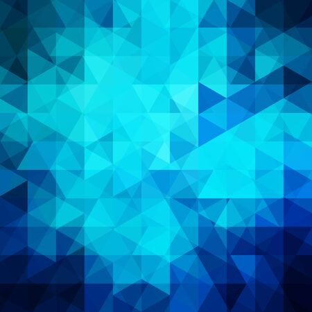 scrunch: Geometric pattern, triangles vector background in blue tones. Illustration pattern